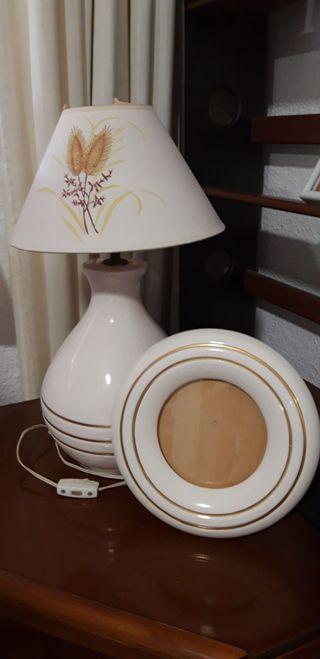 Lámpara noche cerámica