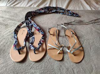 2 pares de sandalias t38