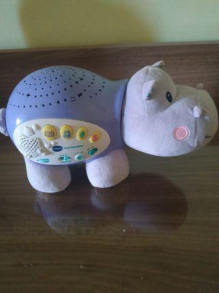 Hipopótamo proyector vtech con música relajante