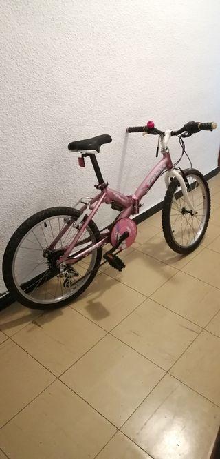 """Bicicleta niña plegable de 24"""" /bolsa transporte"""