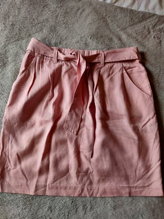 falda rosa claro 38