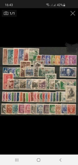 Año completo 1941 sellos francia (-60%)