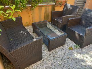 Conjunto Sofá y Sillones terraza o jardín