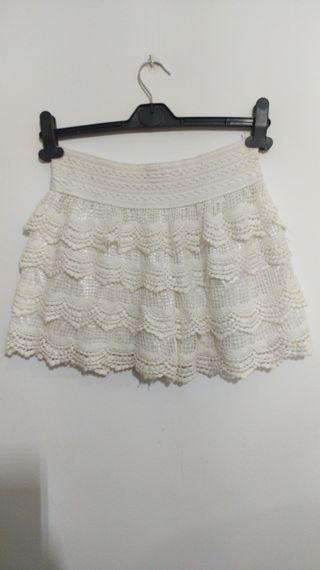 Falda-short blanco