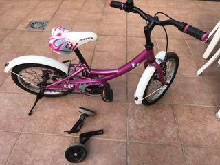 Bicicleta BH niña de 16 pulgadas