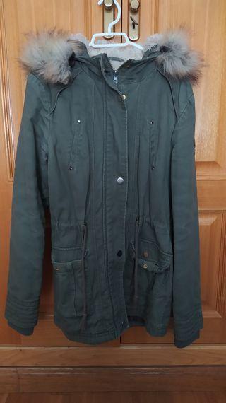 Abrigo verde largo Pimkie