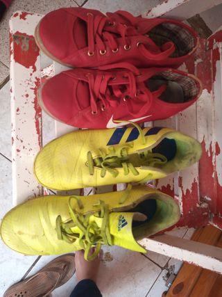 tenis de marca Adidas y Nike