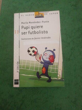 "Libro ""Pupi quiere ser futbolista"""