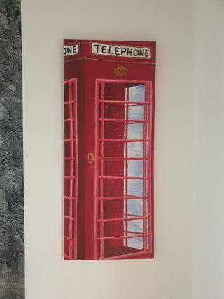 cuadro cabina teléfono Londres