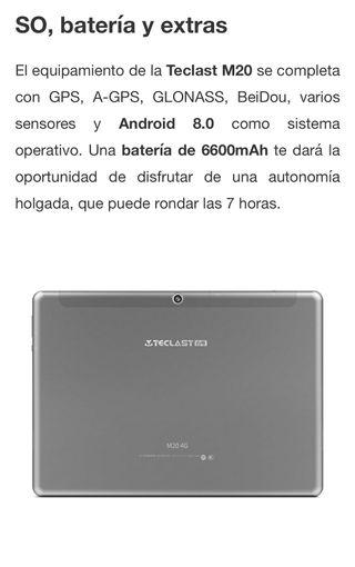 Tablet teclast M20 NUEVO