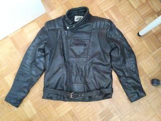 Cazadora de moto de cuero 80's