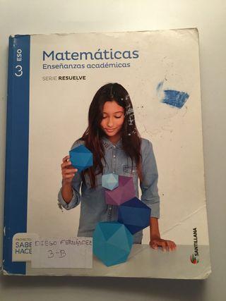 Matemáticas Enseñanzas Académicas 3 ESO Santillana