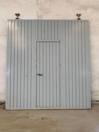 Puerta corredera garaje o nave