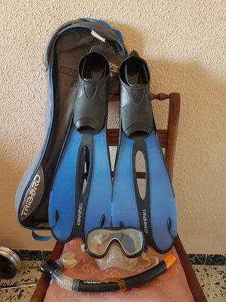 Kit Snorkel Tribord adult Caraibes 500 talla 41-42