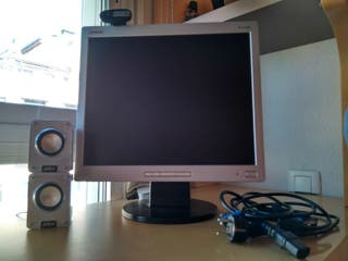 Pantalla HP + Webcam+ Altavoces
