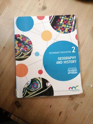 Libro de geografía e historia, secundaria (Anaya)