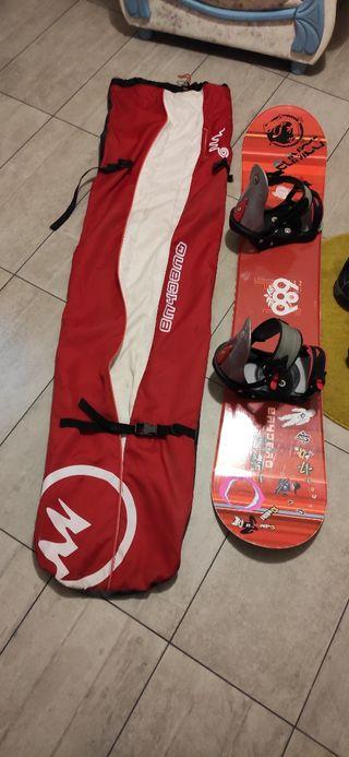 equipo snowboard