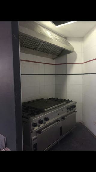 cocina, campana y motor de capana