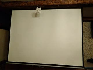 pantalla de proyección para pared o techo. también
