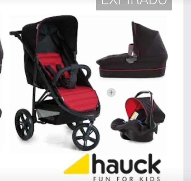 carrito bebé tres piezas ( hauck rapido3 plus trío