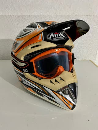 Casco de cross Airoh con gafas