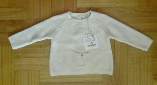 Precioso jersey zara, nuevo, talla 3_6 meses