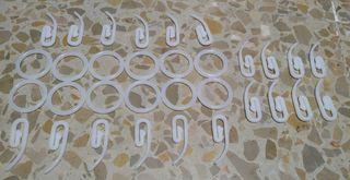 anillas cortinas de plástico