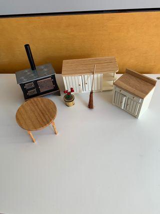 Cocina casa de muñecas escala 1:12