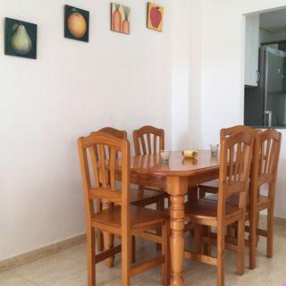 Mesa madera + 6 sillas