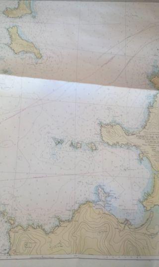 Carta nautica de punto mayor. Puert