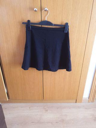 mini falda negra de invierno T.S