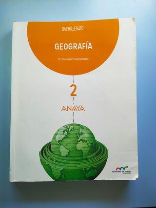 Libro de Geografía 2° bachillerato Anaya