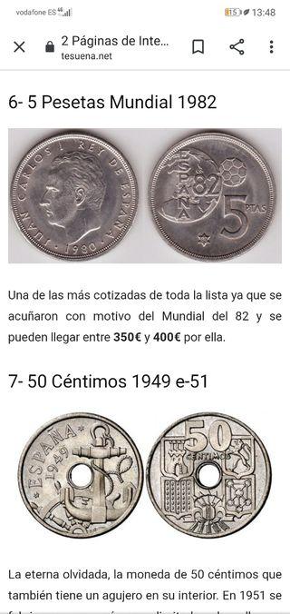 5 pst. conmemorativa mundial 82.