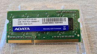 2GB memoria RAM ddr3 1600MHz