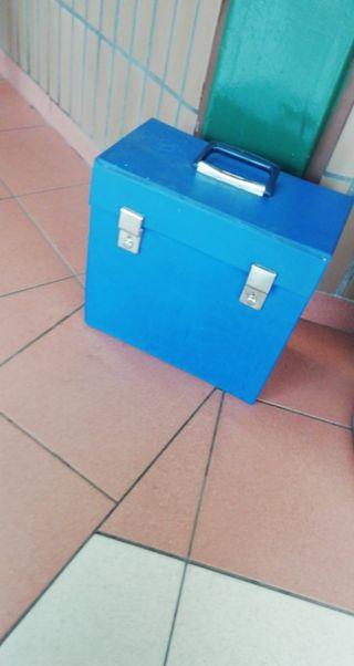 Blue vintage vinyl case