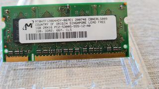 Memoria RAM DDR2 667MHz cl5