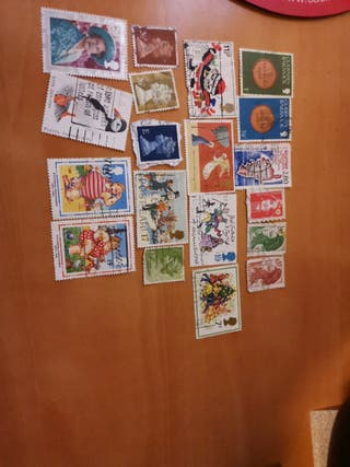 sellos Guernesey, Francia y UK.