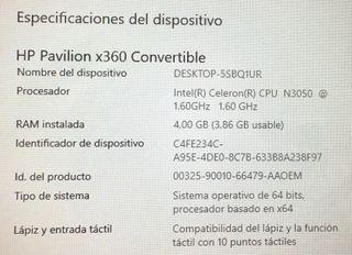 Portátil HP PAVILION x360 convertible