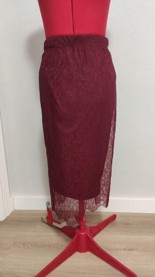 falda de encaje de Zara
