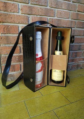 Maletín Porta Botellas Vintage