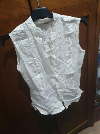 blusa sin manga rociera