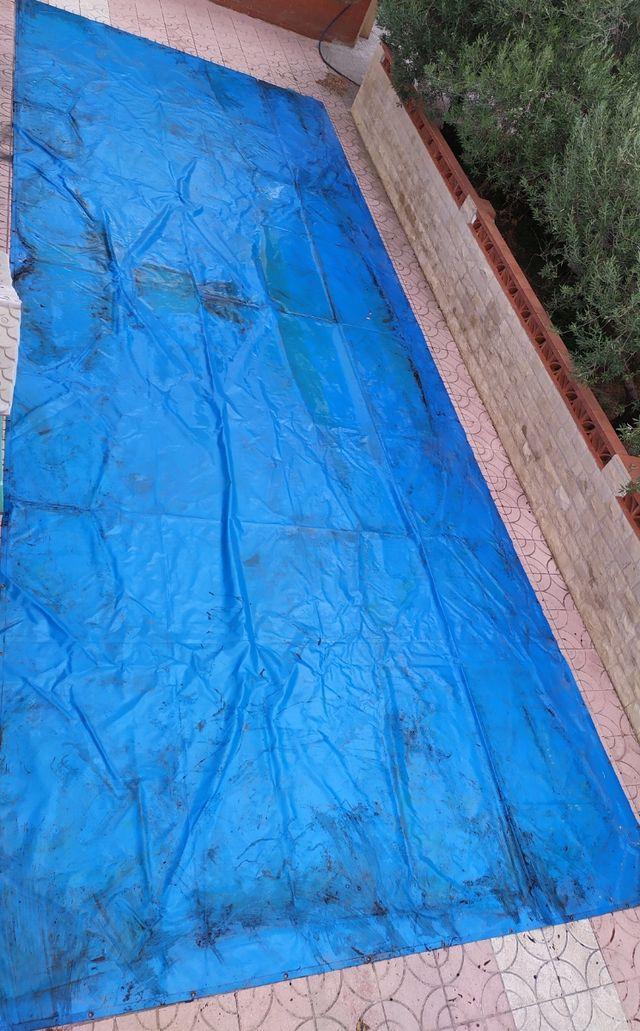 toldo grueso reforzado piscina con ojales 11 x 4 m