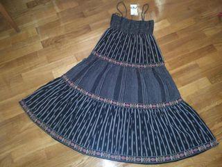vestido midi estilo hippie de Zara