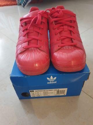 adidas superstar glossy rojas
