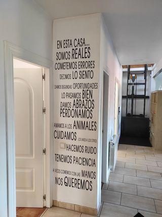 vinilo pared decoración casa