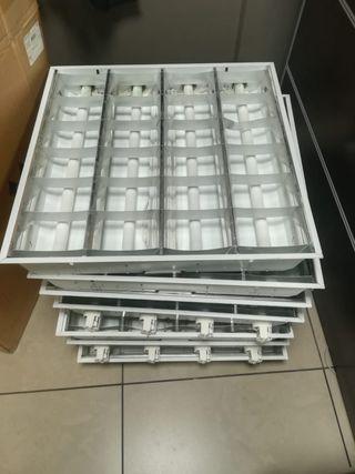 pantalla fluorescente con tubos incluidos