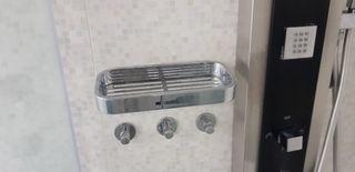 Estante de ducha en cromo