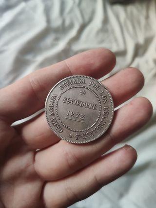 moneda plata 1873 cantonal cartagena cinco pesetas