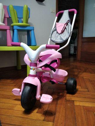 triciclo smoby rosa
