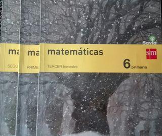 Libros matemáticas 6° primaria.